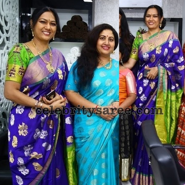 Hema Purple Silk Saree