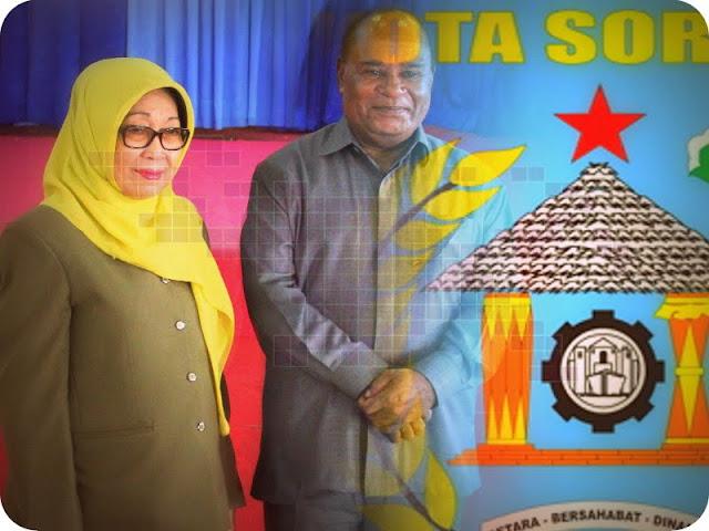 KPU Tetapkan Lambert Jitmau dan Pahima Iskandar Sebagai Pemimpin Kota Sorong Periode 2017 - 2022