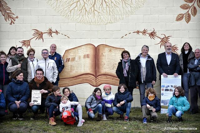 Juzbado, Mural libro abierto, Joaquín Vila, Pablo s. Herrero