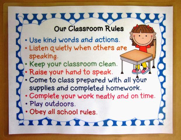 4th Grade Classroom Rules