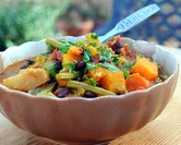 January - Slow Cooker Curried Vegetable Stew