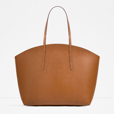 zara tan tote, tan tote bag, zara leather tote,