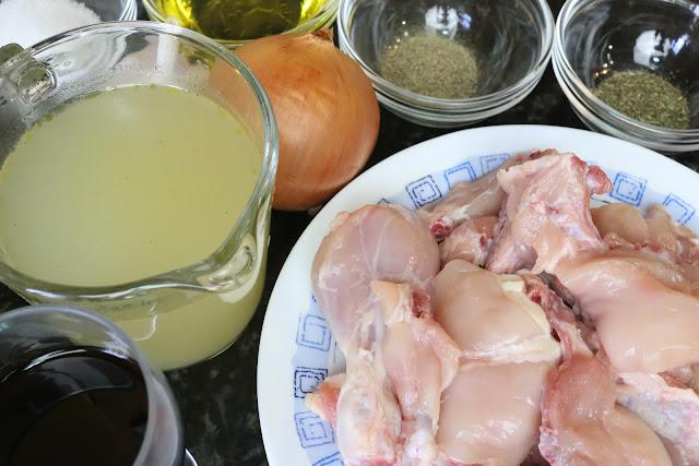 Ingredientes para pollo al ajillo en salsa