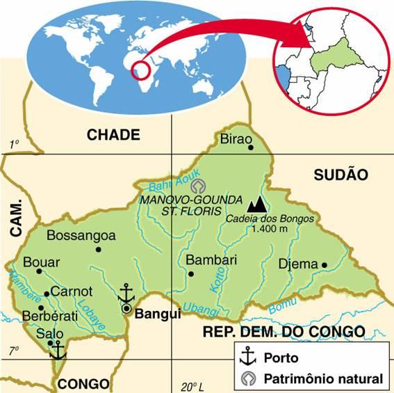 REPÚBLICA CENTRO AFRICANA - ASPECTOS GEOGRÁFICOS E SOCIAIS DA REPÚBLICA CENTRO AFRICANA