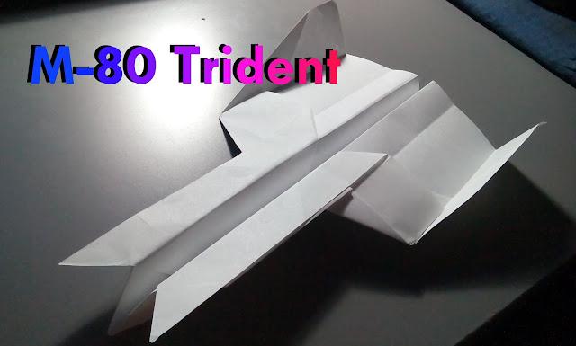 Avión de papel M-80 Trident