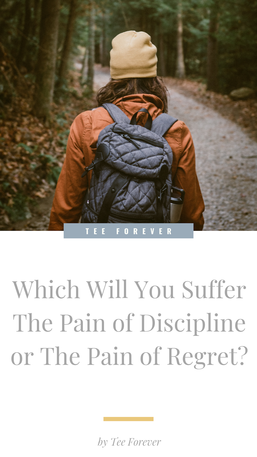 Which Will You Suffer The Pain of Discipline or The Pain of Regret?