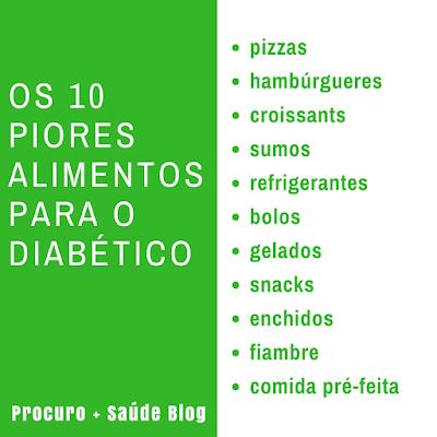 Os 10 piores alimentos para o diabético