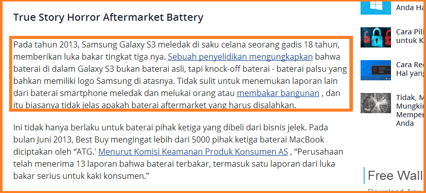 Baterai meledak Nge-charge laptop dengan charger lain