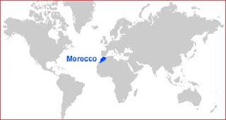 Gambar Peta letak Maroko