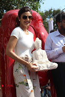 Bollywood Actress Shilpa Shetty Pos at Yoga Posed Statue Inauguration .COM 0012.jpg