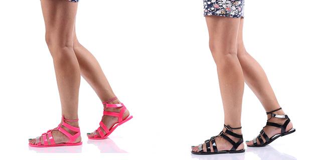 Sandale de vara ieftine negre, fucsia lejere fara toc online