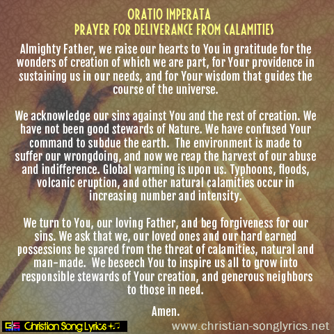 Prayer for Deliverance from Calamities