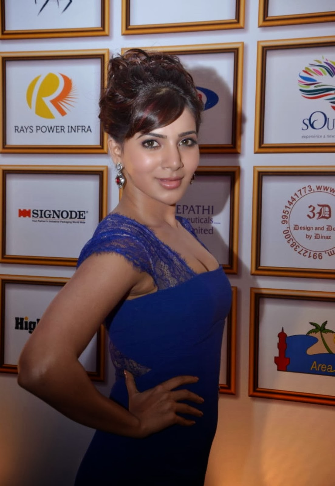 Samantha latest photos in long dress at food for change event