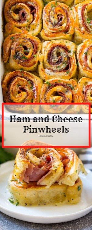 Ham and Cheese Pinwheels #christmas #appetizer