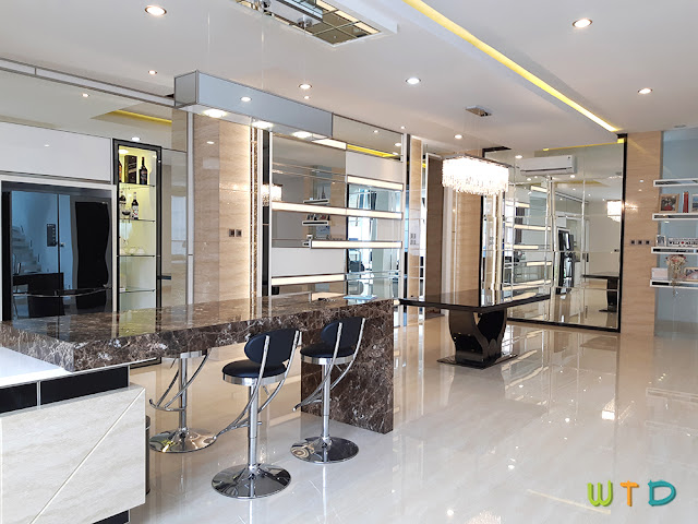 Desain Ruang Makan Pantry Mewah Lampung Tangerang
