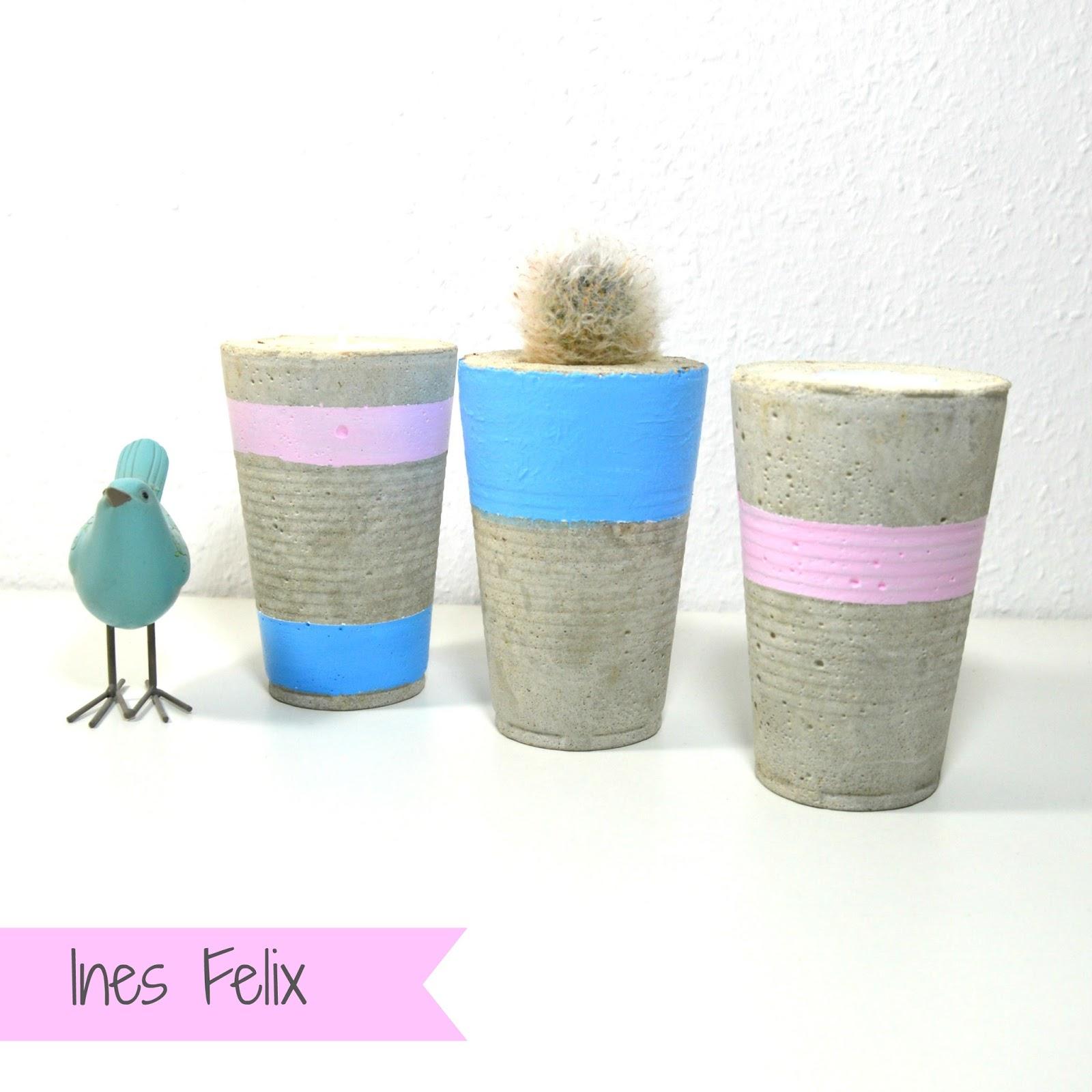 ines felix kreatives zum nachmachen beton in pastellfarben. Black Bedroom Furniture Sets. Home Design Ideas