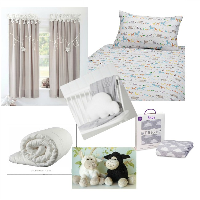 toddler-bedroom-wishlist-collage-curtains-duvet-and-cover-sheep-toy-cloud-cushion-and-cloud-fitted-sheets