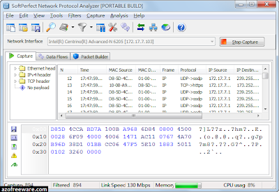SoftPerfect Network Protocol Analyzer