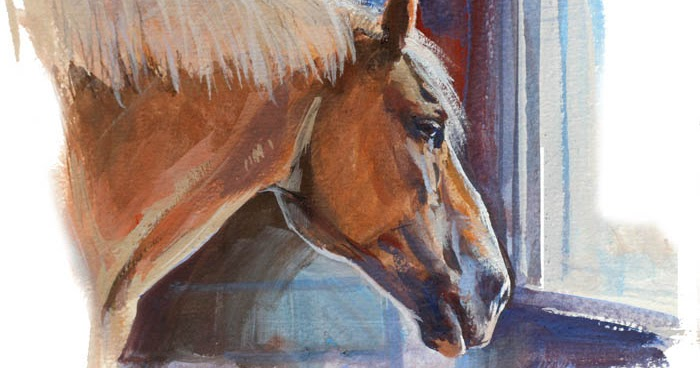 gurney journey painting a donkey and a horse from life