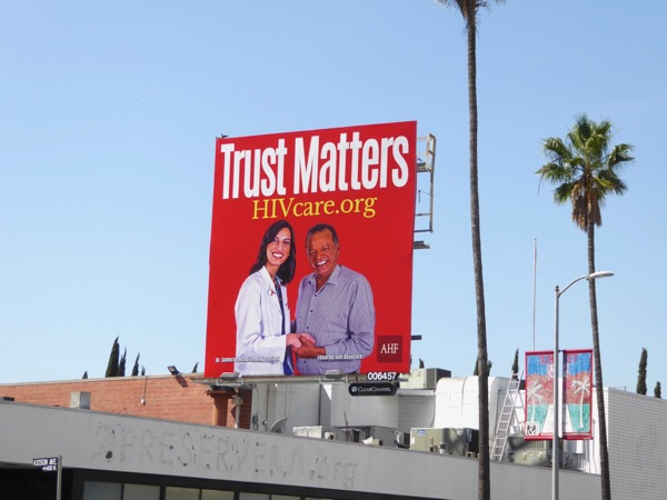 HIV Care Trust Matters billboard