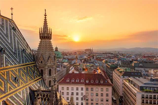 Sunset in Vienna, Austrial - lonelyplanet.com