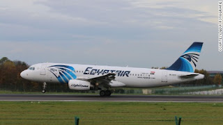 Egyptair 804 was lost over the Mediterranean Sea