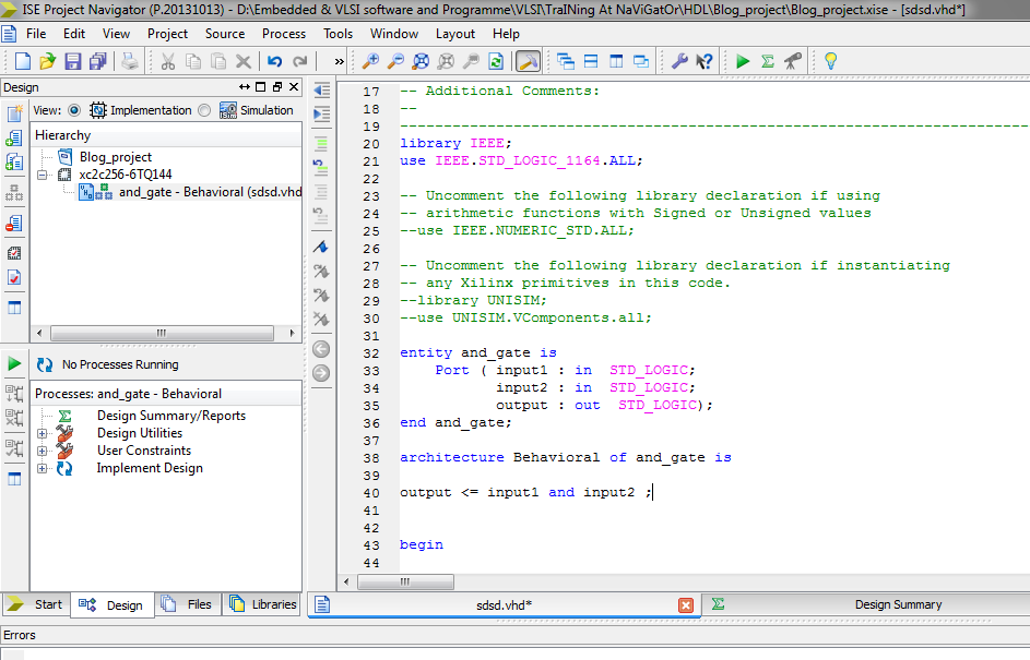 VHDL and Verilog Training codes and C codes: Getting Start