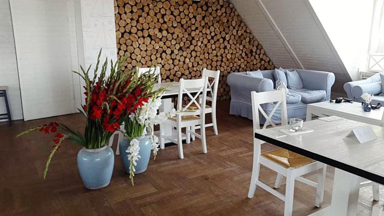 Interior, Restauracja White Marlin w Sopocie, kwiaty, Resaturant, maritim, Summer, Sommer, Polska, Polen,