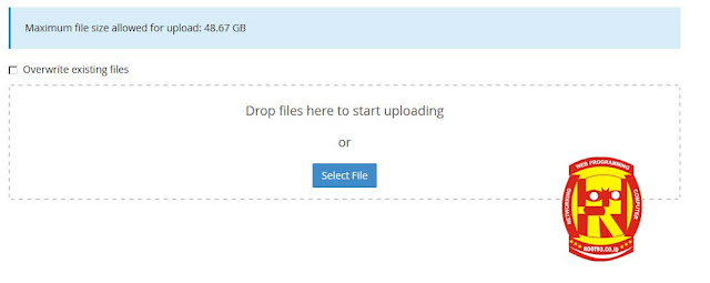 halaman upload file manager