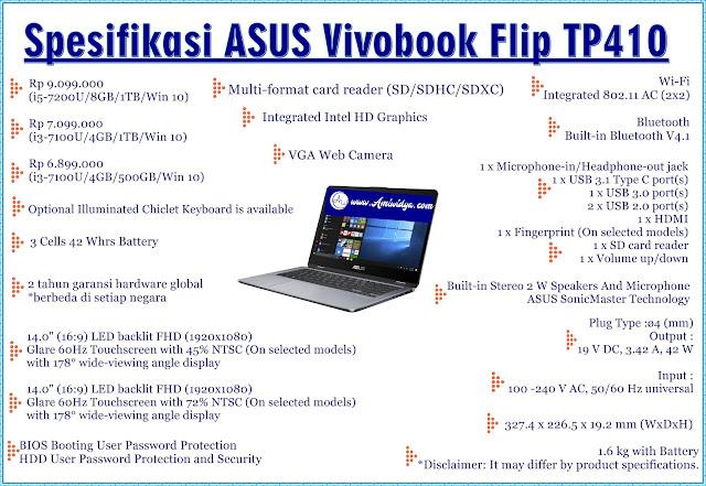 spesifikasi ASUS vivobook flip TP410
