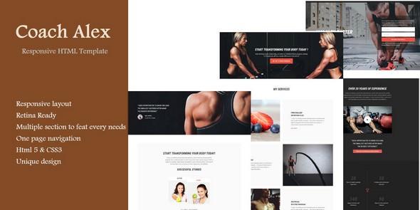Coach alex HTML template