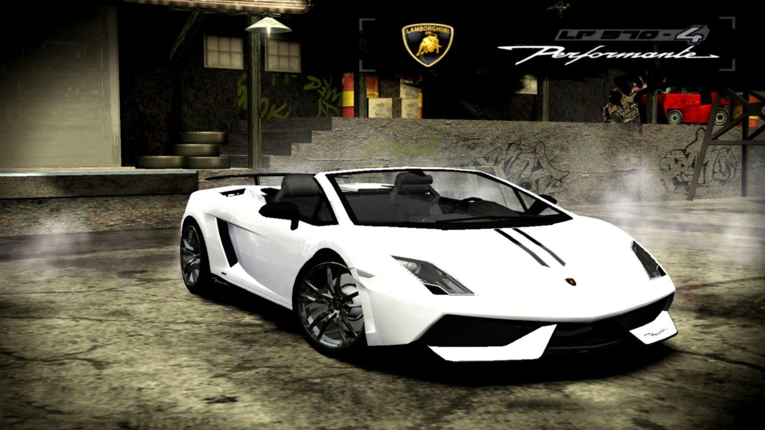Lamborghini Gallardo Spyder Performante Nfs Most Wanted Cars