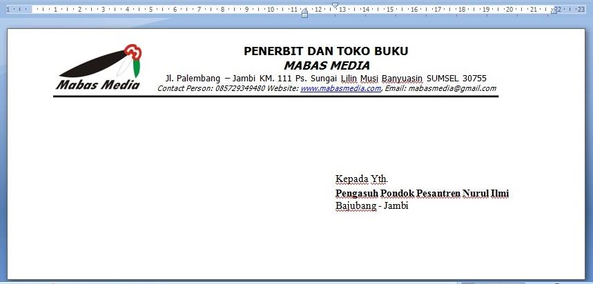 Format Amplop Surat Resmi Doc Surat Rasmi N