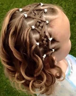 peinados infantiles con ligas