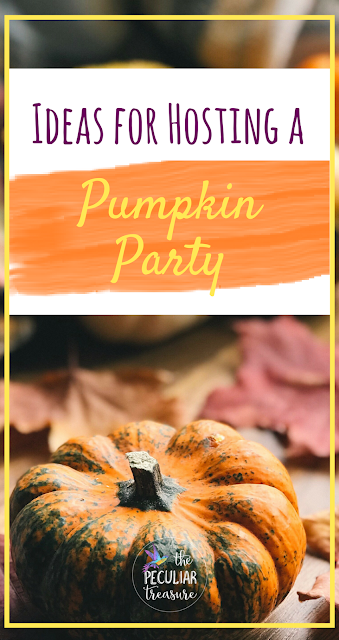 Today on The Peculiar Treasure, I'm sharing some links/resources that will help you get inspired to throw your own pumpkin party. #pumpkin #fall