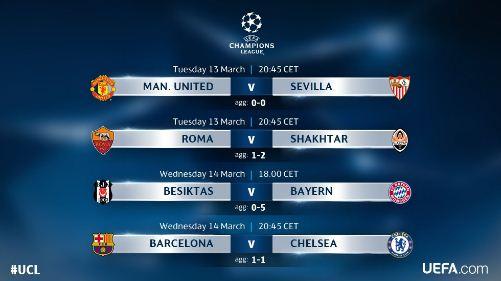 Jadwal Liga Champions 13-14 Maret 2018 - Siaran Langsung  SCTV