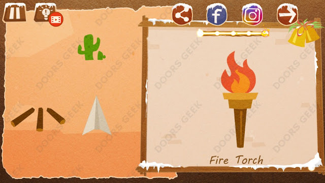 Chigiri: Paper Puzzle Christmas Pack Level 7 (Fire Torch) Solution, Walkthrough, Cheats