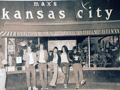 The Rockids outside of Max's Kansas City in New York City