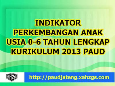 Indikator PAUD Kurikulum 2013 Terbaru Usia 0-6 Tahun