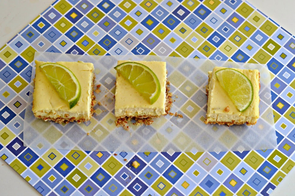 Rich and velvety Margarita Cheesecake Bars with Pretzel Crust