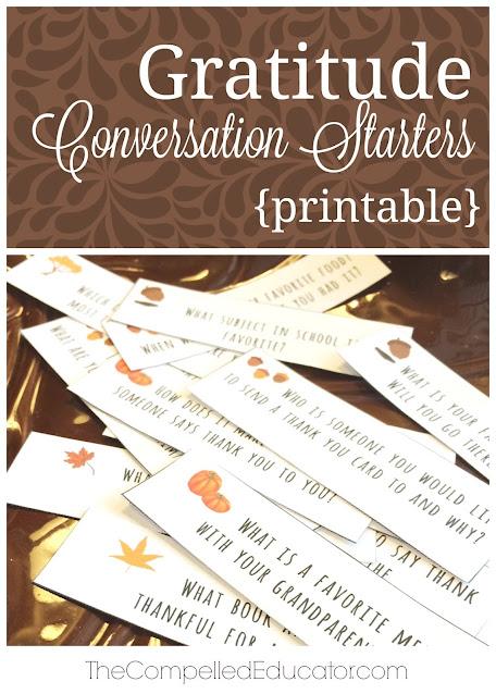 Gratitude Conversation Starters