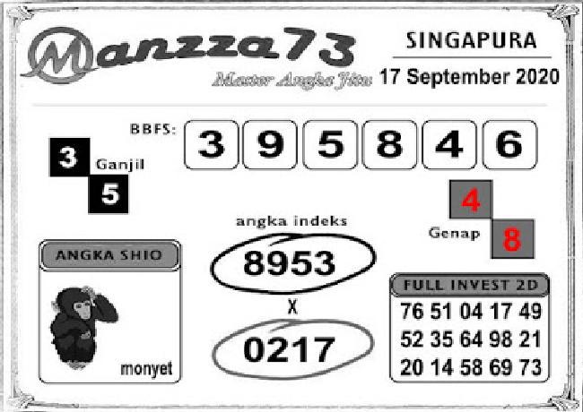 Kode syair Singapore Kamis 17 September 2020 207