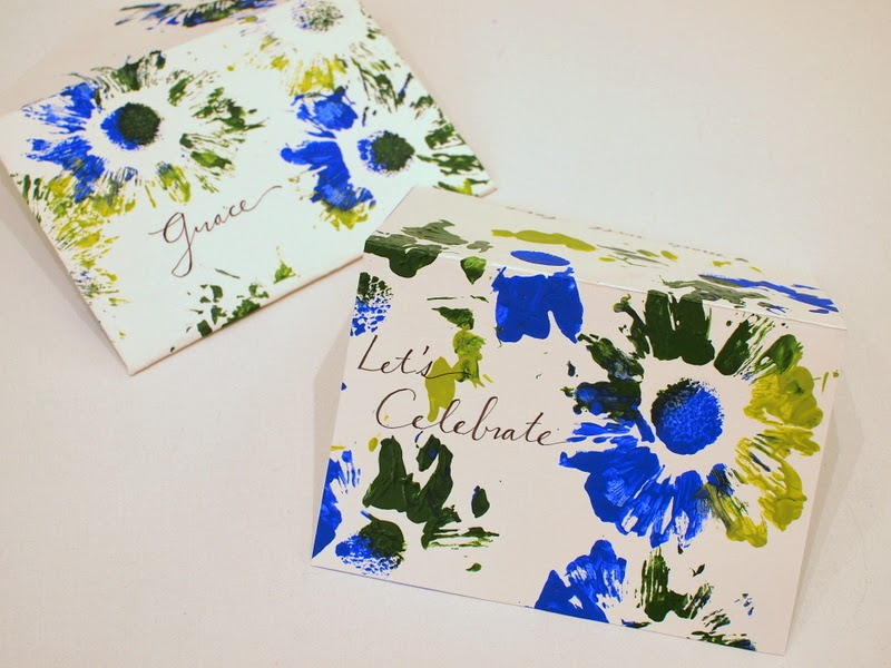 turn your flower prints into cards