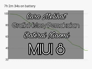 Cara Melihat History Pemakaian Baterai di Xiaomi MIUI 8