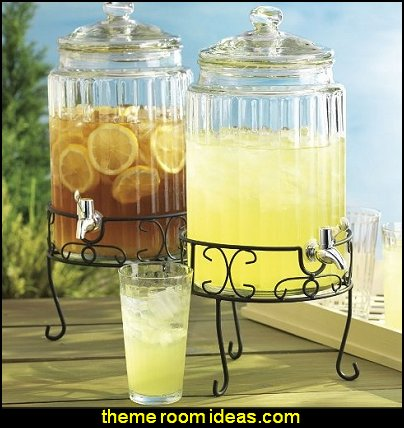 Gallon Glass Beverage Dispenser With Stand