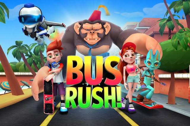 تحميل لعبة المغامرات Bus Rush كاملة مهكرة للاندرويد اخر تحديث