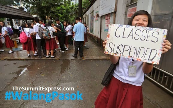 Updated List: Class suspensions for Friday, July 18, 2014 | #WalangPasok