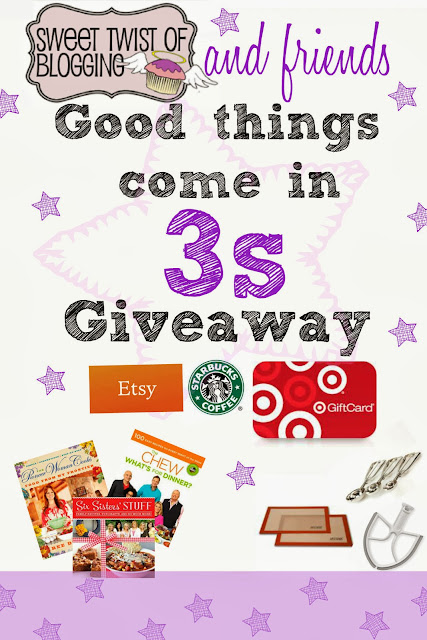 Good Things Come in 3's #Giveaway - win three cookbooks, three kitchen gadgets, and three gift cards! | cupcakesandkalechips.com