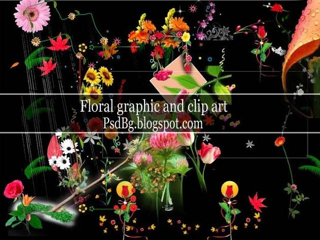 Floral Graphic Design and Clip Art