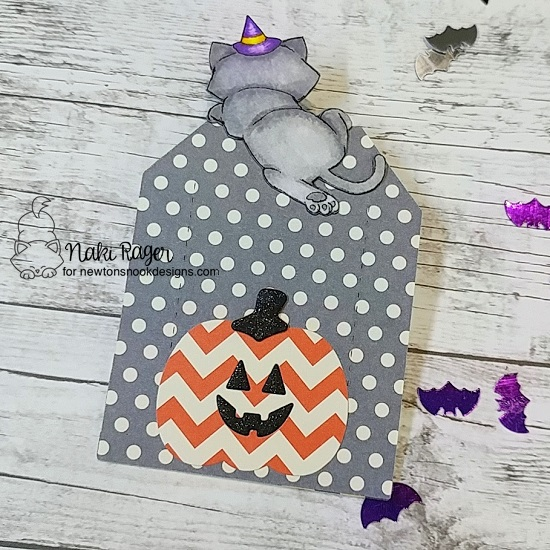 Trick or Treat Tag by Nakaba Rager | Newton's Boo-tiful Night Stamp Set and Pick-a-Pumpkin Die Set by Newton's Nook Designs #newtonsnook #handmade #halloween